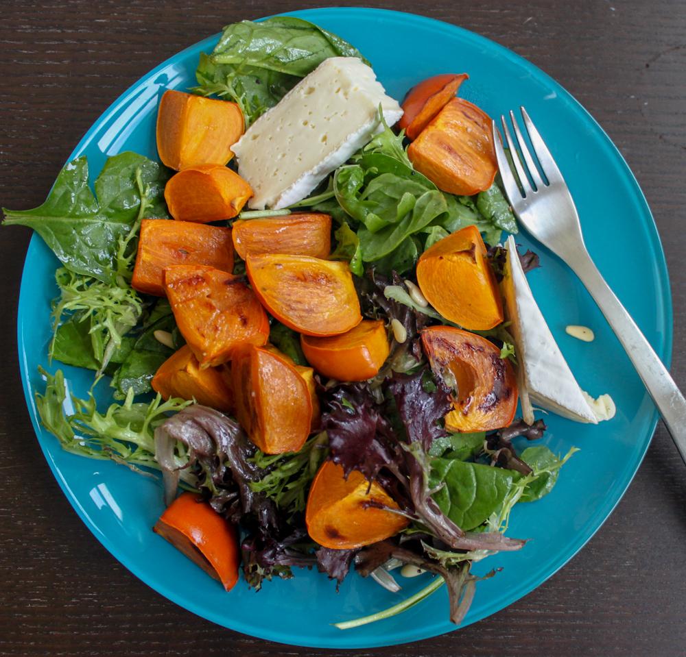 Persimmon Brie Salad