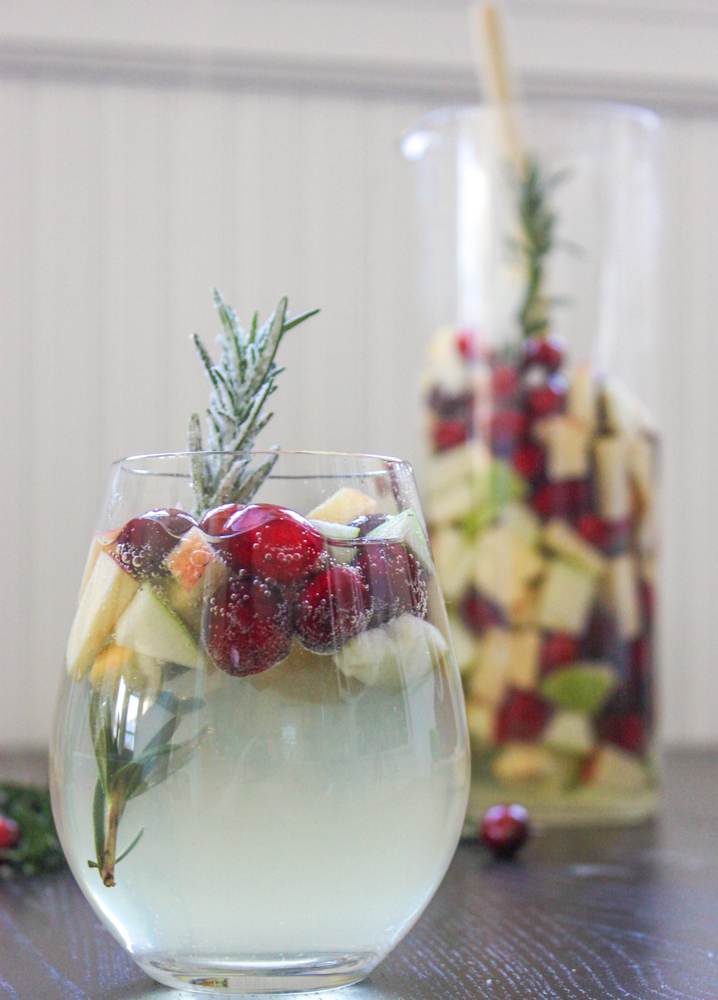 Rosemary Cranberry White Sangria