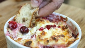 Gooey White Cheddar and Cranberry Dip
