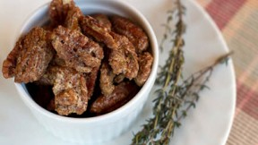 Brown Sugar and Thyme Roasted Pecans