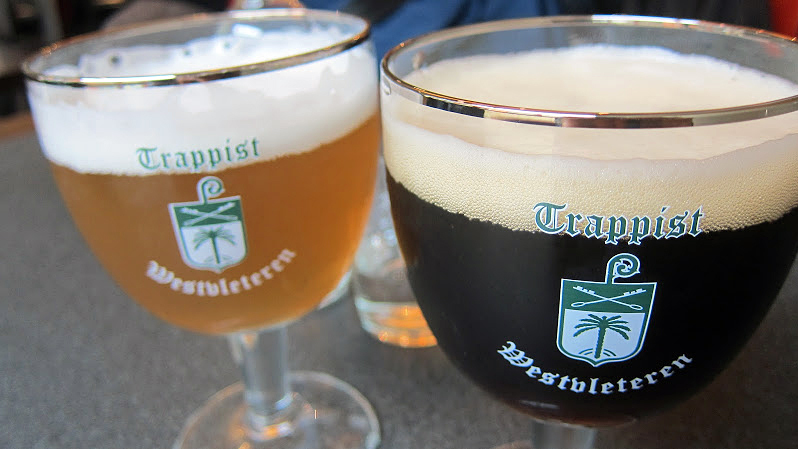 Beers made by Trappist monks at St. Sixtus Abbey's Westvleteren Brewery in Belgium are sought by connoisseurs. For the first time, the monks are exporting the beer overseas, including to the U.S. Photo courtesy of Mark Lampert