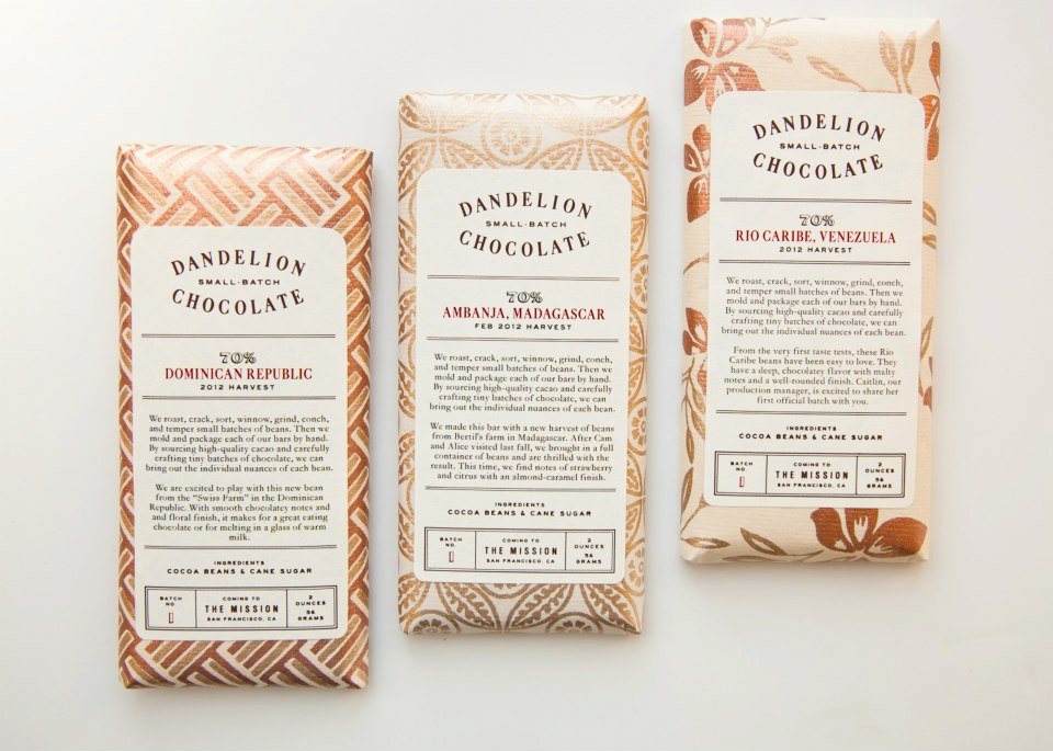 Three Varieties of Dandelion Chocolate Bars. Photo: Molly DeCoudreaux