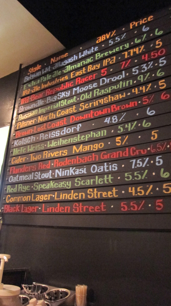 Beers on tap at Rosamunde's