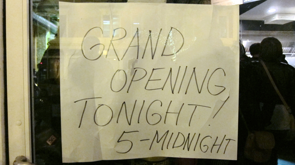 Grand Opening Tonight!
