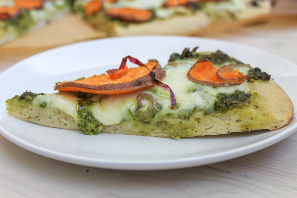 Sweet Potato & Kale Pesto Pizza