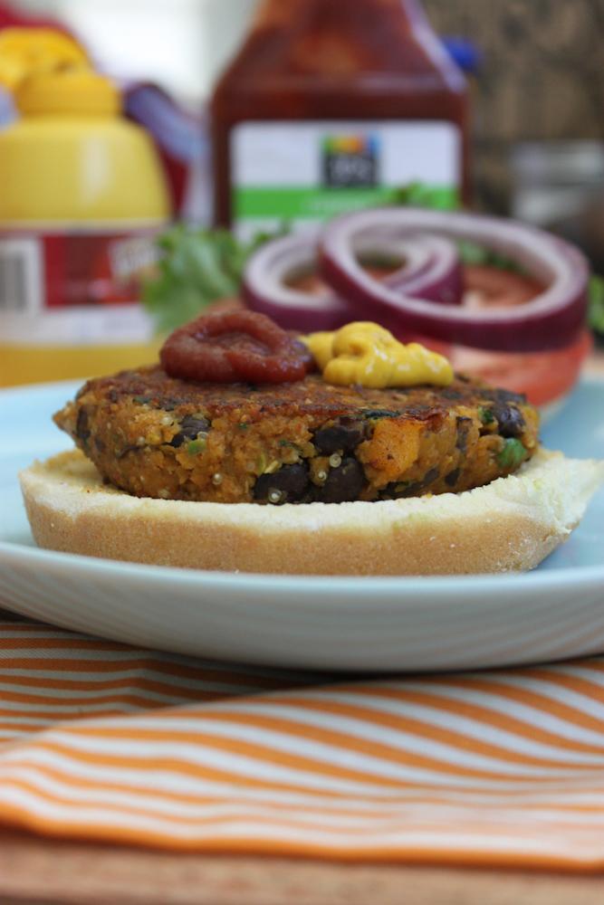 Spicy Butternut Squash & Black Bean Burger