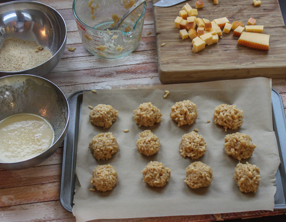 Beer and Gouda Risotto Balls