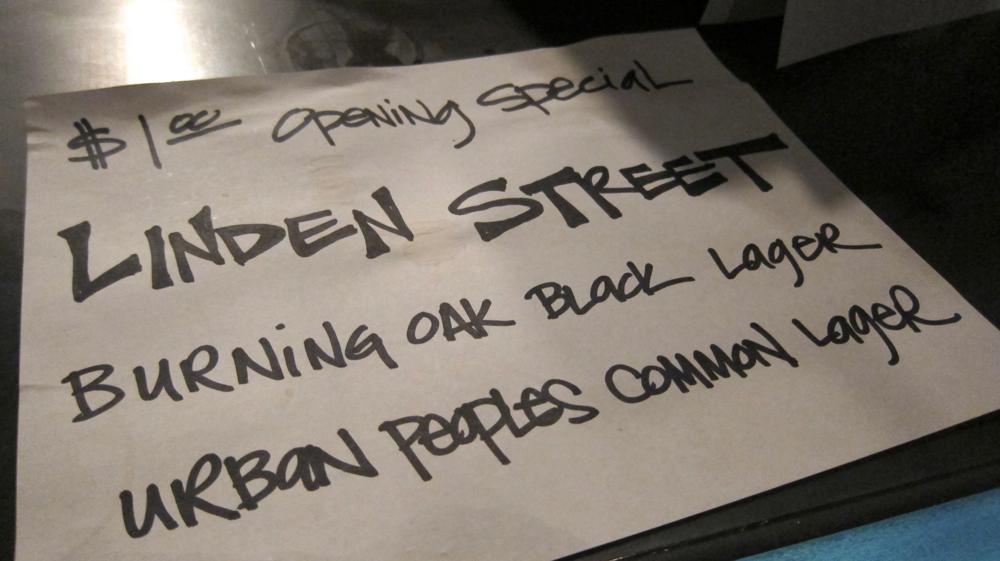 Linden Street Brewery beer specials