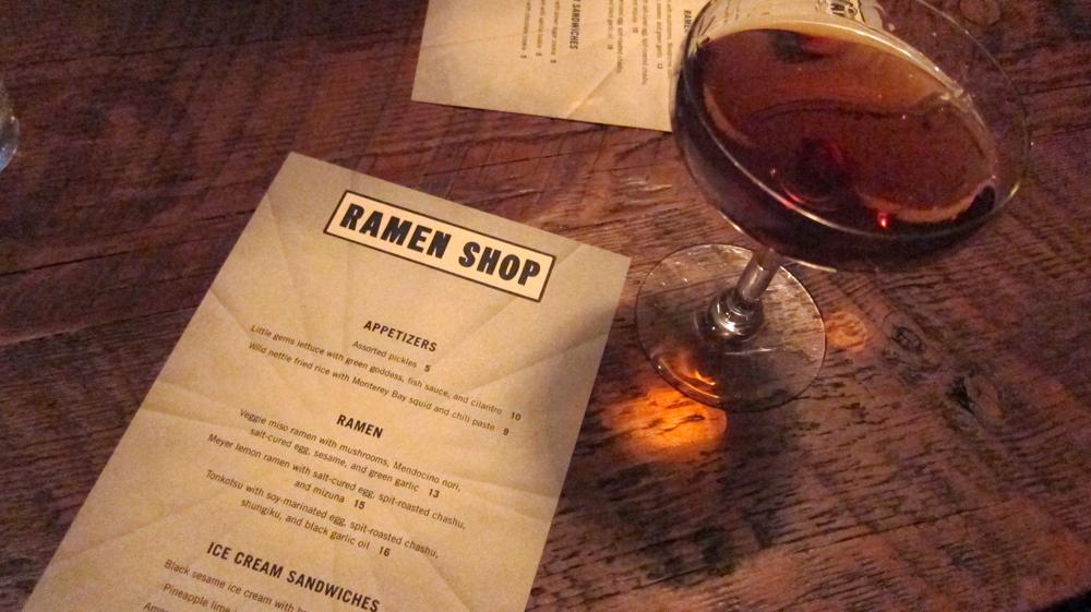 Ramen Shop menu
