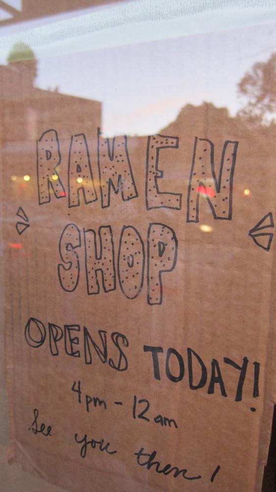 Ramen Shop sign