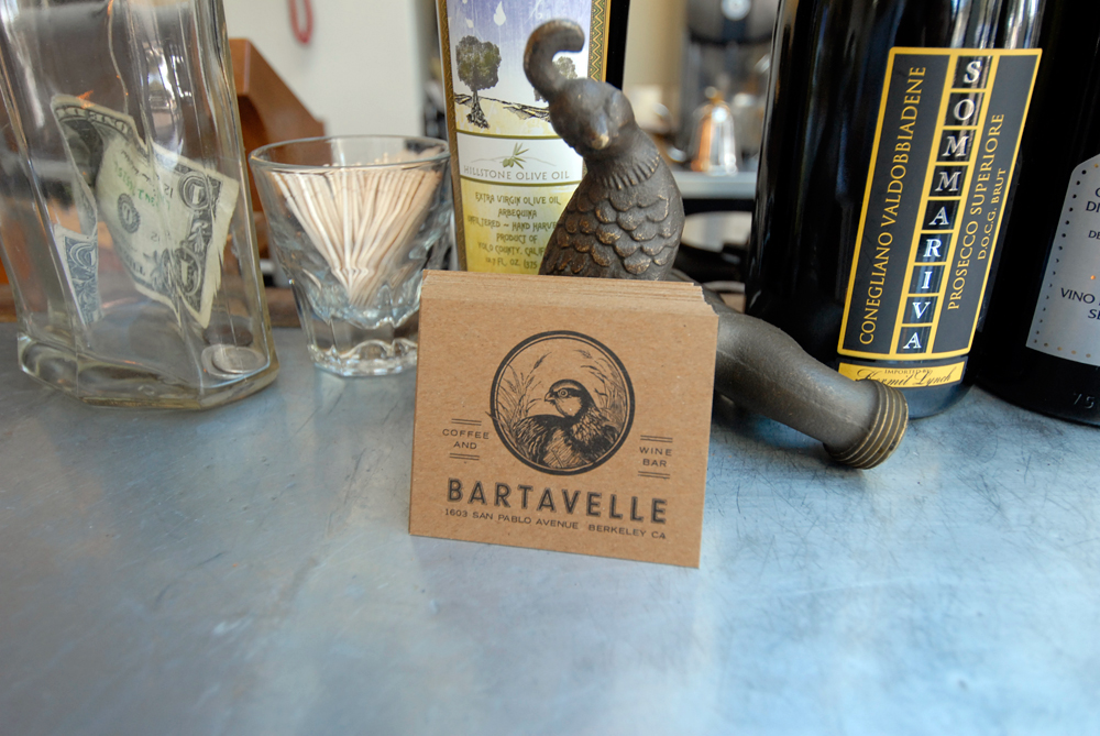 Bartavelle business cards. Photo: Wendy Goodfriend