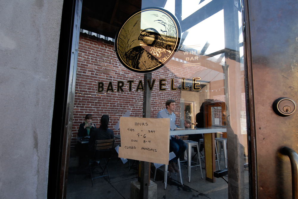 Bartavelle Coffee and Wine Bar door. Photo: Wendy Goodfriend