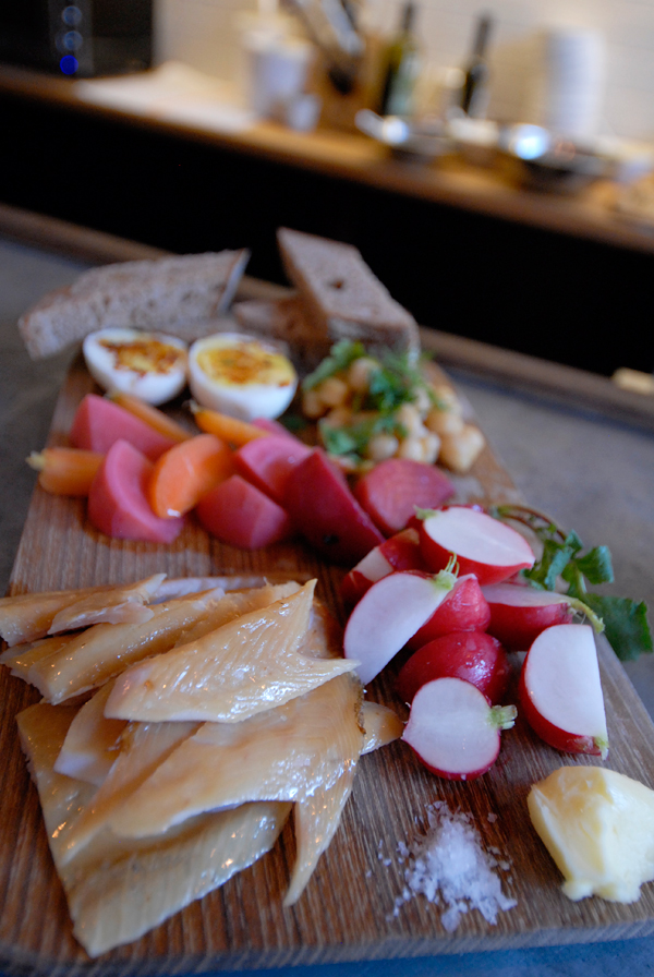 Bartavelle smoked trout platter. Photo: Wendy Goodfriend