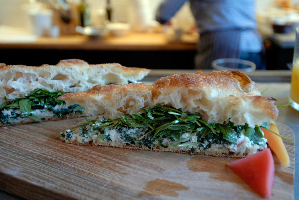 Bartavelle - Sheeps milk ricotta kale sandwich. Photo: Wendy Goodfriend