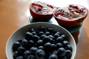 Blueberries and Pomegranate. Photo: Wendy Goodfriend