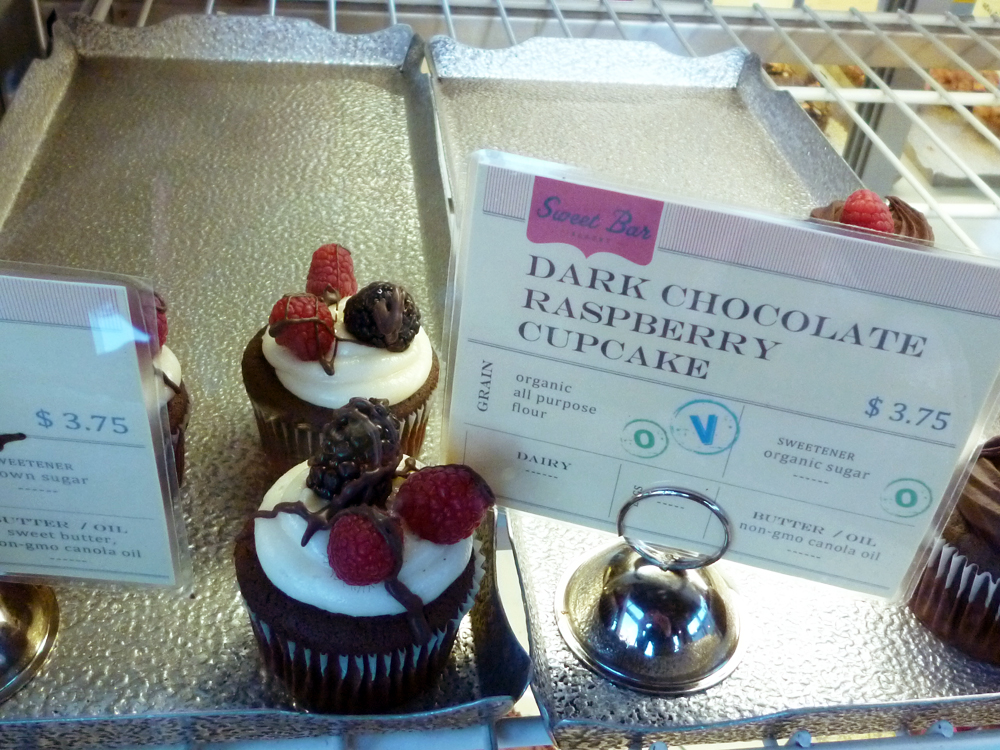 Dark Chocolate Raspberry Cupcake