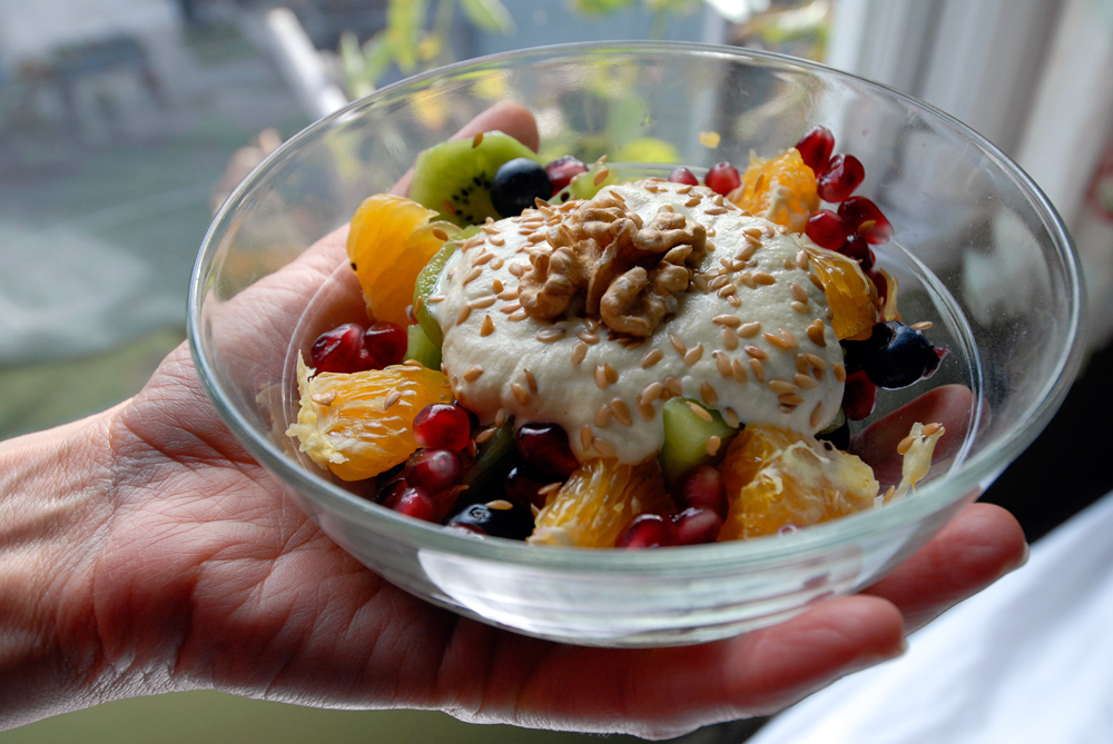 Almond-Ambrosia Fruit Salad. Photo: Wendy Goodfriend
