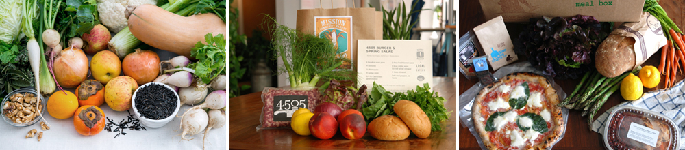 Meal kits from CUESA, Mission Community Market and Luke's Local (photos: Colin Price, Good Eggs)