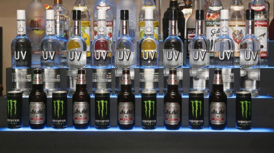 The bar at a surprise birthday party for MTV Teen Wolf's Stephen Lunsford, presented by Monster Energy Drinks in November in Los Angeles. Photo: Todd Williamson/Invision/AP