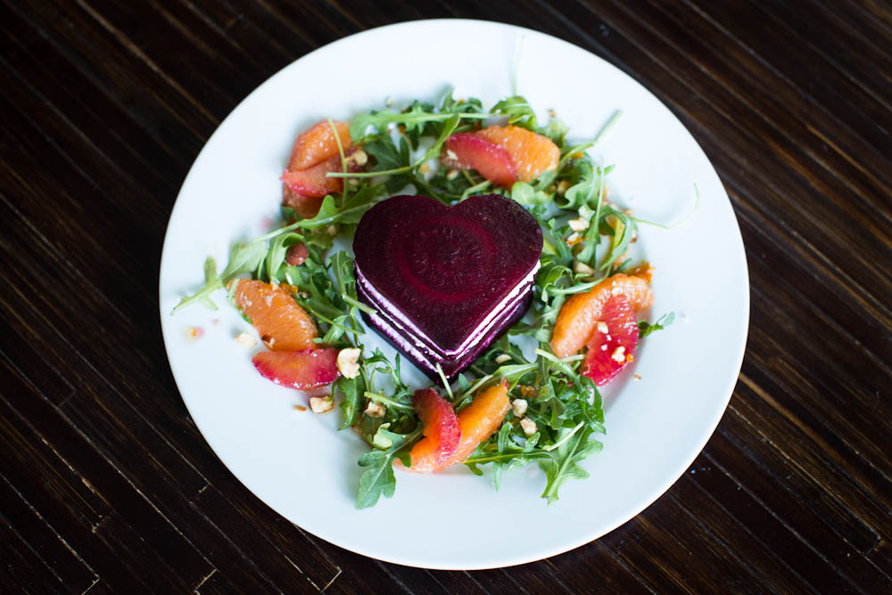 green salad with pink goat cheese hearts share pink goat cheese hearts ...