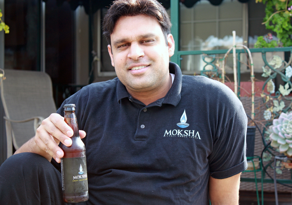 Mukul Jain launched Moksha Beer at SF Beer Week 2012, with its first product based on a beer recipe from an uncle in India.