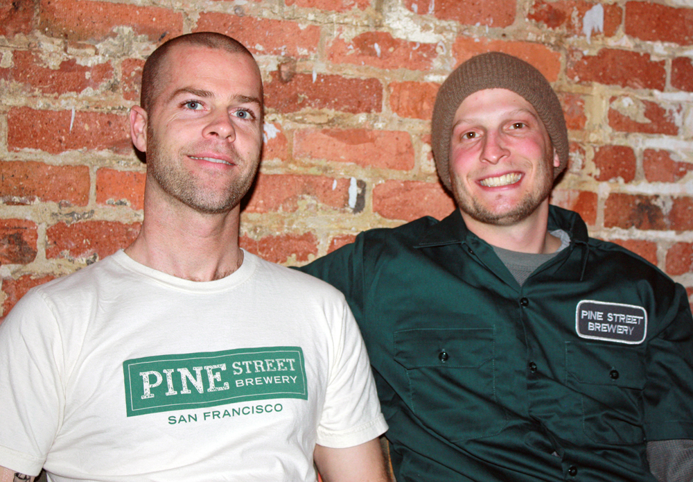 David Alexander and Jay Holliday launched Pine Street Brewery on Monday at the Amsterdam Cafe in San Francisco.