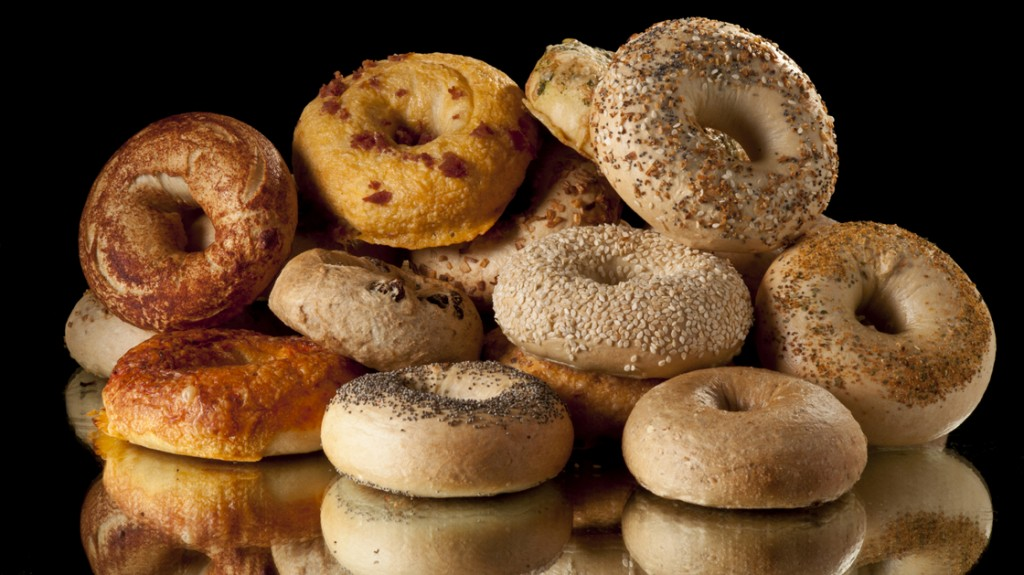 For better skin, maybe you should stick to the whole grain bagels. Photo: istockphoto.com