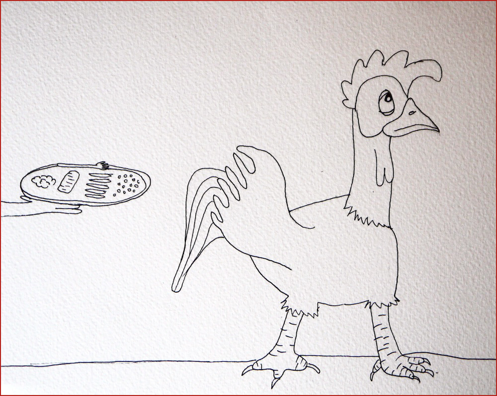 The Rooster. Illustration by Lila Volkas