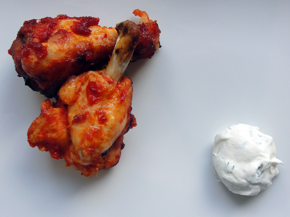 Sodium Girl's salt-free version of the classic comfort fare buffalo wings. Photo: Jessica Goldman Foung