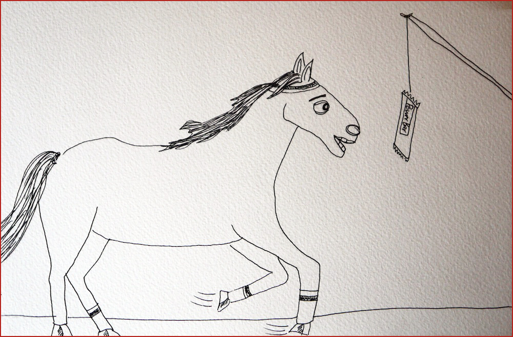 The Horse. Illustration by Lila Volkas