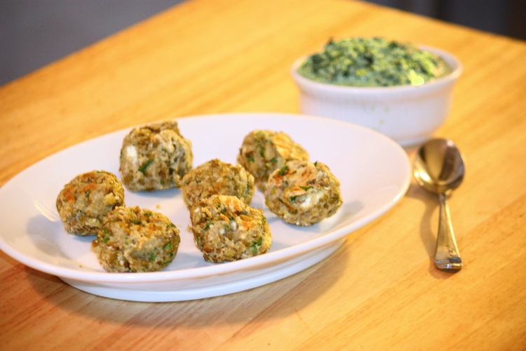 Lentil Meatballs With Lemon Pesto. Photo: T. Susan Chang for NPR