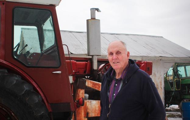 Vernon Hugh Bowman lives outside the small town of Sandborn, Ind. Photo: Dan Charles/NPR