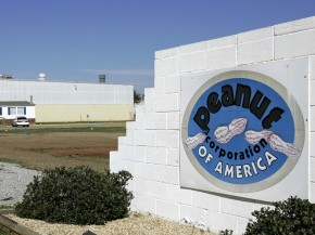 A sign outside the Peanut Corp. of America's processing plant in Blakely, Ga. Photo: Ric Feld/AP