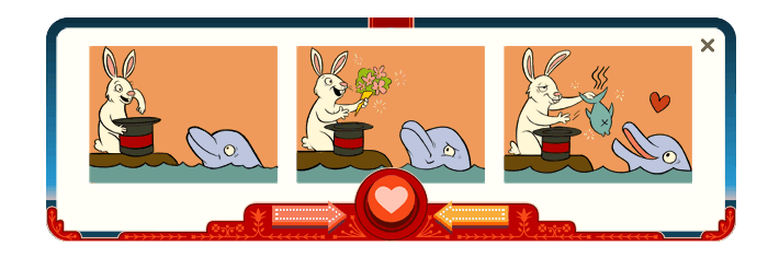 The Dolphin is not initially excited by The Rabbit's traditional inedible Valentine's gift - but the magic hat comes through with the perfect gift of love.