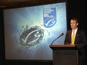 "Rupert Howes is CEO of the Marine Stewardship Council. ""We want to see the global oceans transformed onto a sustainable basis,"" he tells NPR. Photo: Tim Lofthouse/Courtesy of the Marine Stewardship Council"