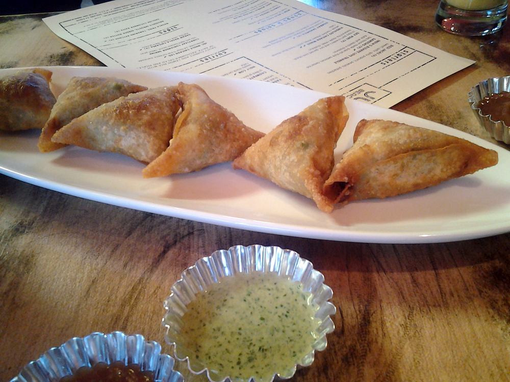 India's Bizarre Love Triangle Samosas. Photo: Mary Ladd