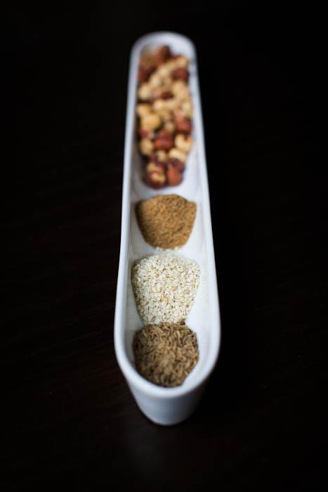 Hazelnuts, Coriander, Sesame Seeds, & Cumin