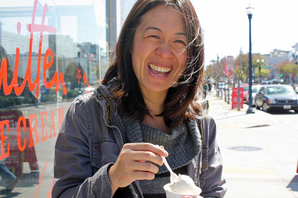 "Jennifer Ng's obsession with ice cream is the foundation for her upcoming book, ""The Ice Cream Travel Guide."" Photo: Tilde Herrera"