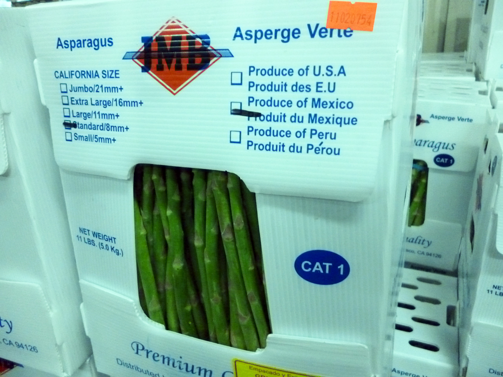 Asparagus from Mexico
