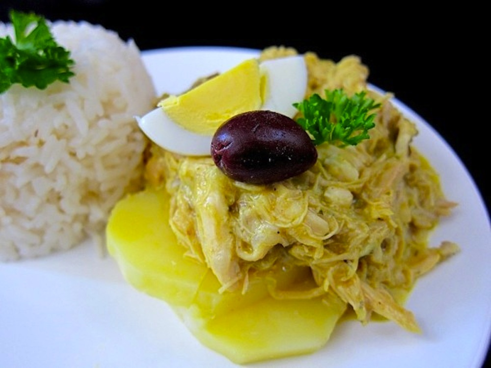 Aji de gallina - Peruvian chicken stew. Photo courtesy: Nico Vera