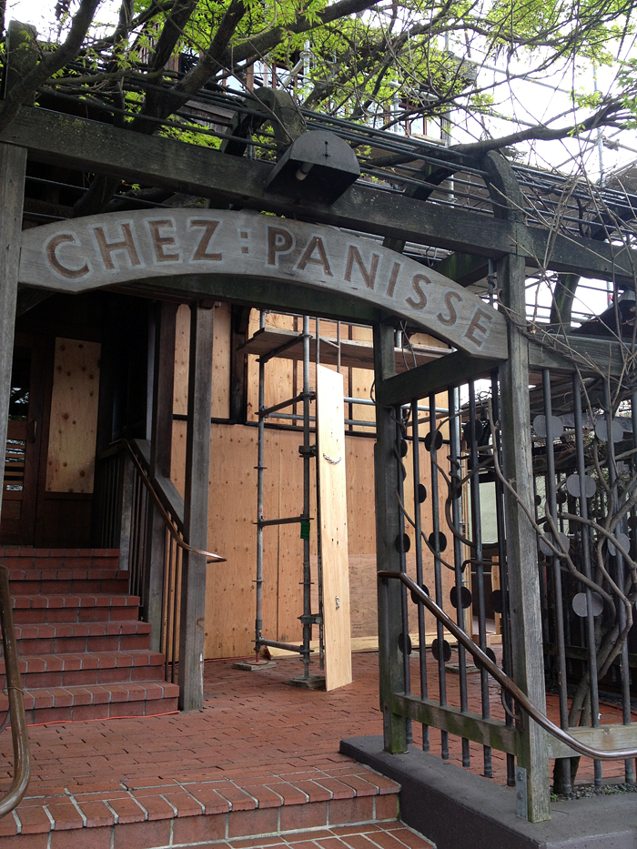 Chez Panisse fire damage - photo taken 3/20/13. Photo: Wendy Goodfriend