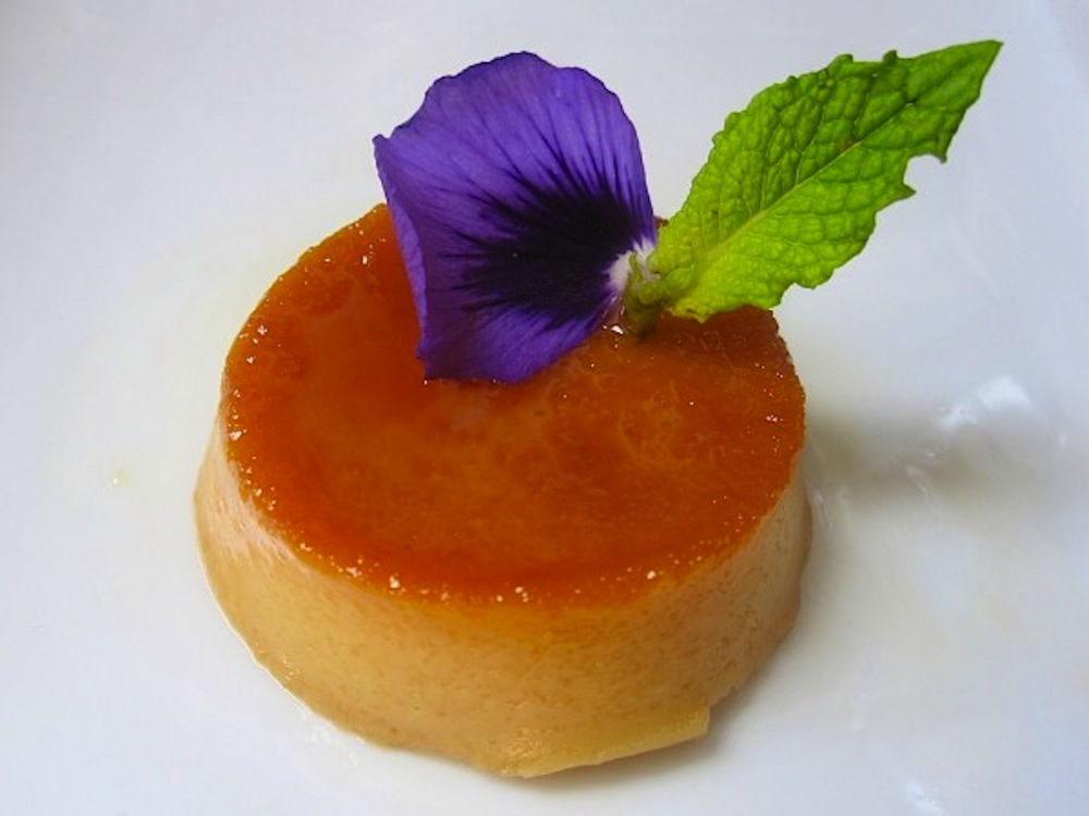 Peruvian flan with quinoa. Photo courtesy: Nico Vera