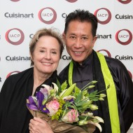 Alice Waters and Martin Yan at IACP Awards in San Francisco. Photo: Gamma Nine via IACP