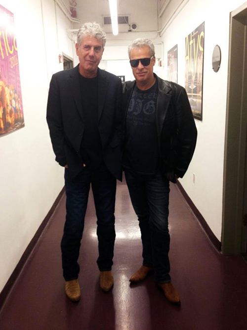 Anthony Bourdain and Eric Ripert photo courtesy of Good vs. Evil