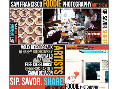 Sip. Savor. Share! Food Photography Show in SF Opens May 9