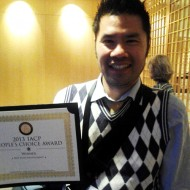 Irvin Lin with his IACP award. Photo: Mary Ladd