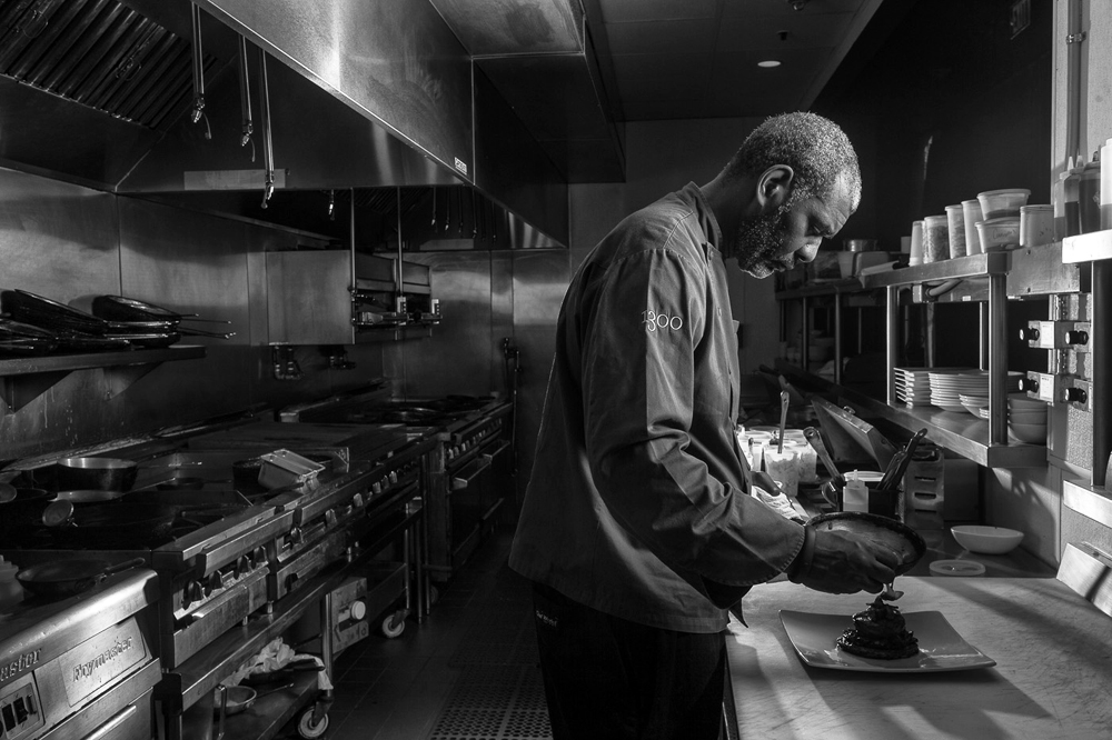 Chef David Lawrence in the 1300 on Fillmore kitchen. Photo courtesy of 1300 Fillmore
