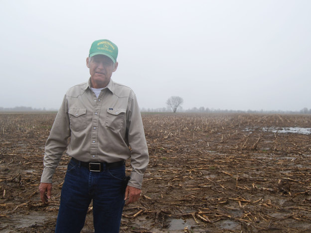 Missouri farmer Gary Riedel says wet weather will put him about a month behind last year's planting. Photo: Abbie Fentress Swanson for NPR