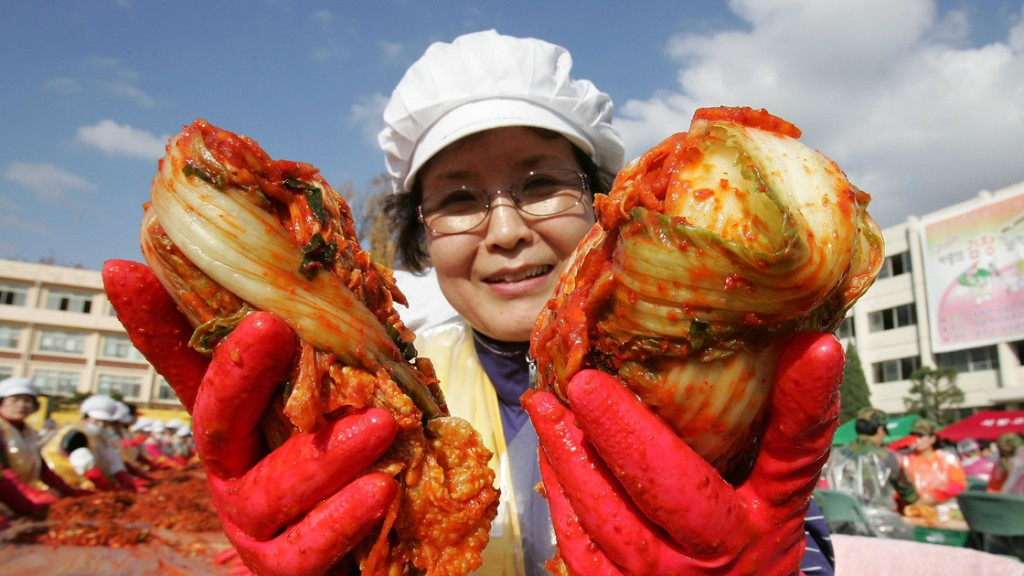 Kimchi is a traditional pungent fermented Korean dish made of vegetables with a variety of seasonings. Photo: Chung Sung-Jun/Getty Images