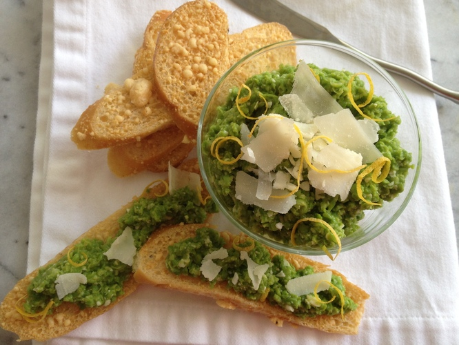 Peas And Parmesan Dip. Photo: Sheri Castle for NPR
